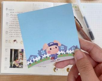 Postal Bunny Sticky Notes - 50 sheets