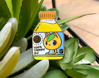 Tangy Orange Juice Enamel Pin - Animal Crossing