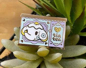 Tia Tea Enamel Pin - Animal Crossing