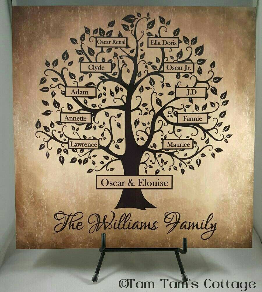 Custom Family Tree Sign Family Tree Tile Personalized | Etsy