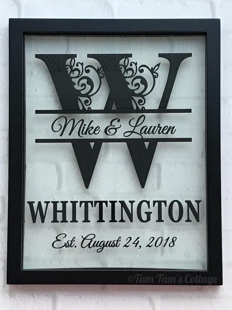 Personalized Floating Frame Split Letter Wedding Gift image 0