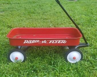 Rare Vintage Radio Flyer Red Wagon Full Sized Johnson & Johnson Edition