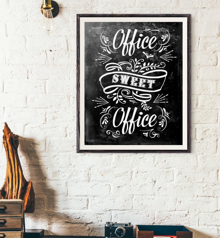 Büro süße Büro Geschenk für Mitarbeiter Tafel Kalligraphie | Etsy