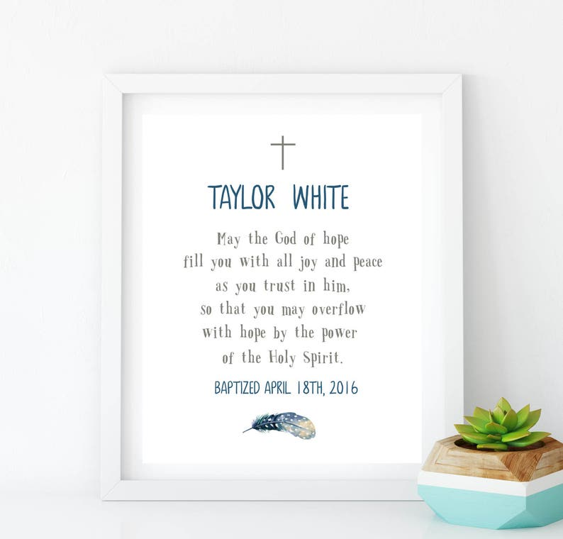 Confirmation Boy First Communion Baptism gift Dedication Boy print Baby  Name Sign Personalized Blessing print Boy bible virse idb61