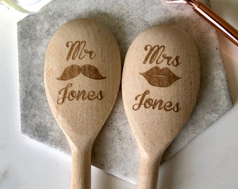Personalised Engraved Your NAME VEGETARIAN SPOON Wooden Spoon Fun Baking Helper Cookware, Dining & Bar