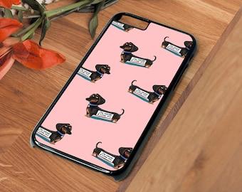 Dachshund Sausage Dog Pink Beautiful Hard Phone Case Iphone 4 4S 5 5S SE 5C 6 6S 7 Plus