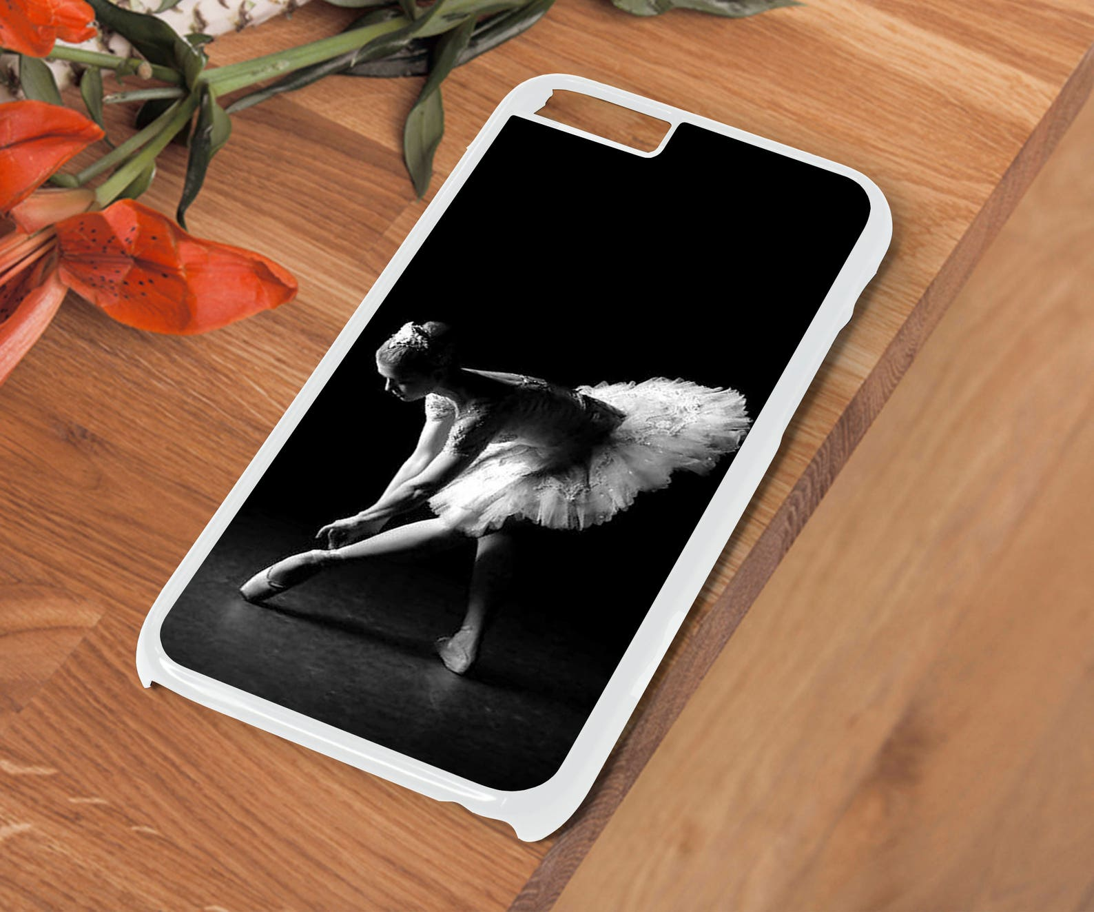 ballerina ballet shoes dress 2 hard phone case cover for iphone