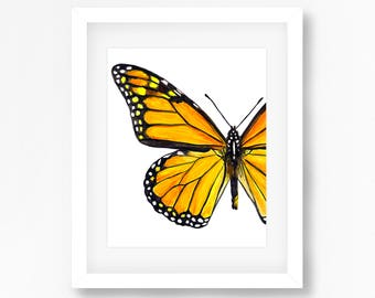 1bfebb477 Monarch Butterfly Watercolor Fine Art Print