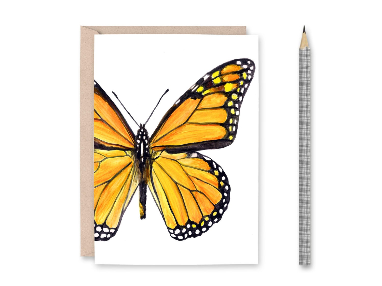 GENERAL FEMALE  BLANK BUTTERFLY GREETING CARD