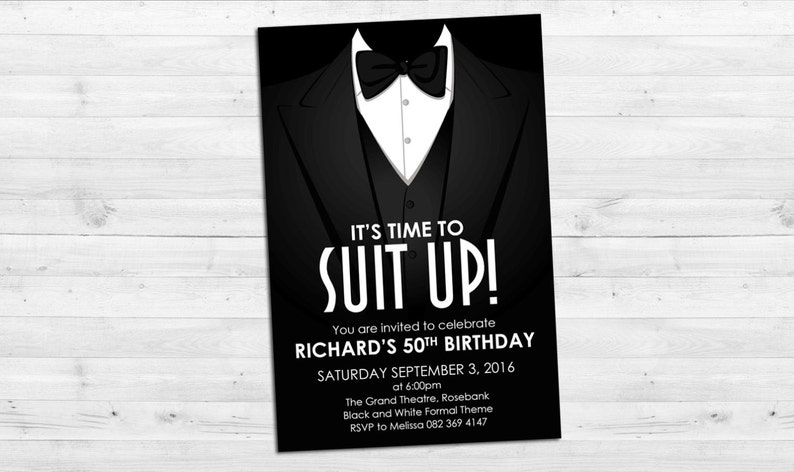 Suit Up Invitation image 0