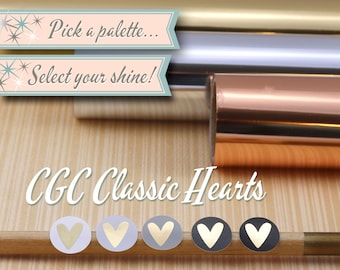 Foiled Icon Stickers | CGC Classic Hearts | 56 Stickers Total