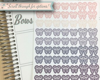 Icon Planner Stickers | Bows | 63 Stickers Total
