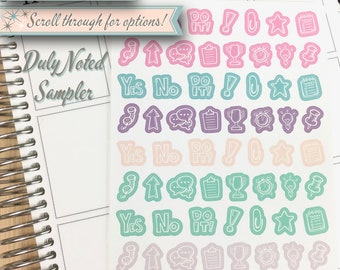 Icon Stickers | Duly Noted Sampler | 60 Stickers Total