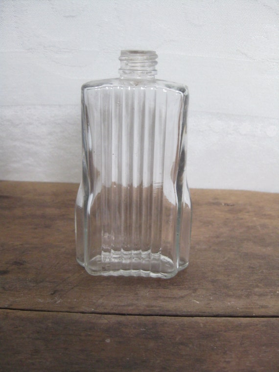 Vintage Carved Lucite Acrylic Perfume