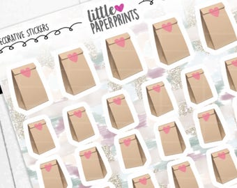 """DECORATIVE - """"Packing Lunch Bags With LOVE"""" Individual Decorative Stickers - Decorative Planner Stickers"""