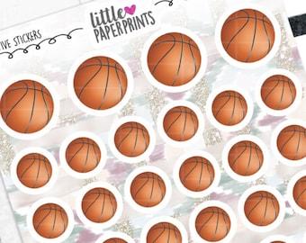 "DECORATIVE - ""Regular Basketballs"" Individual Decorative Stickers - Decorative Planner Stickers"