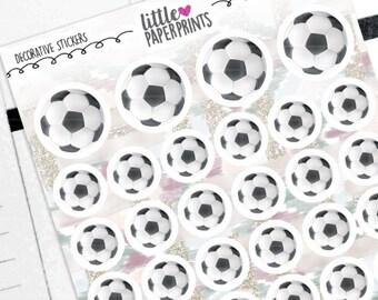 "DECORATIVE - ""Regular Soccer Balls"" Individual Decorative Stickers - Decorative Planner Stickers"