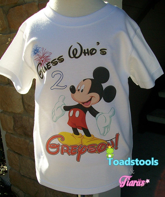 Mickey Mouse Inspired Guess Who Birthday Shirt