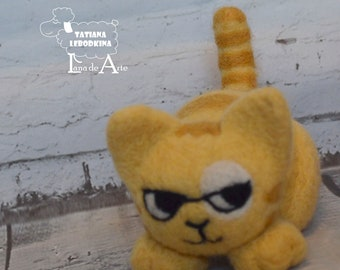 Needle felted cat, felted kitten, felt toys, felt cat, funny cat, kitty cats, cute kitten - Made To Order