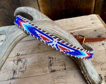 Handmade c vintage beaded belt 1980s Bohemian Belt