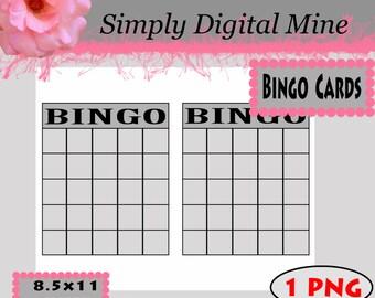 bingo template etsy