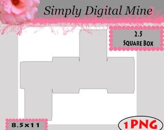 square box template etsy