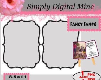 YOU Design!!! .. Double Sided wedding decorative  fan Templates!!  #6