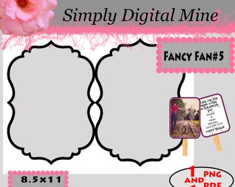 YOU Design!!! .. Double Sided wedding decorative  fan Templates!!  #5