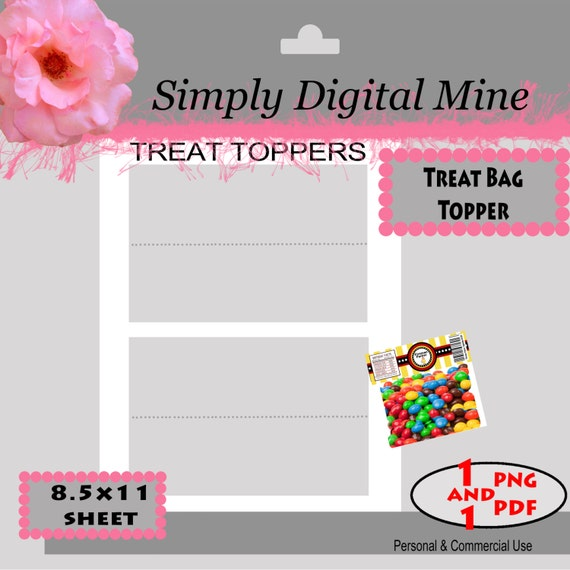 YOU Design Treat Bag Topper labels Template