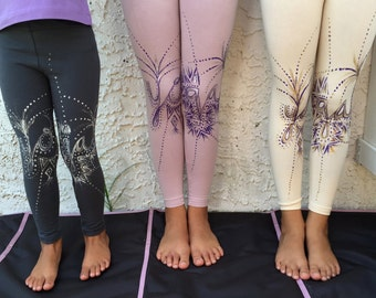 CLOSE-OUT Girls Hand Painted Yoga Leggings