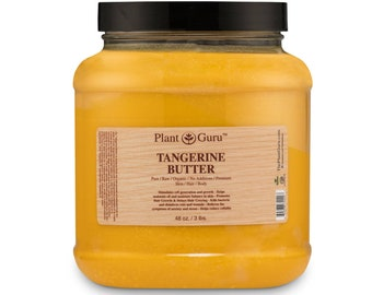 Tangerine Body Butter 100% Pure Raw Fresh Natural Cold Pressed. Skin, Hair, Nail Moisturizer, DIY Creams, Balms, Lotions, Soaps.