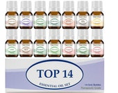 Essential Oil Set 14 - 5 ml. 100 Pure Therapeutic Grade Oils For Skin, Hair, Aromatherapy Diffuser and Soap Making.