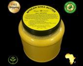 3 lbs Raw African Shea Butter Organic 100 Pure Unrefined Virgin From Ghana YELLOW Great For Skin, Body, Face, Hair Bulk Wide Mouth Jar