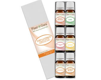 Citrus Essential Oil Set Variety Kit 6 Pack 100% Pure Therapeutic Grade 10 ml.