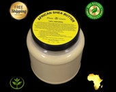 3 lbs Raw African Shea Butter Organic 100 Pure Unrefined Virgin From Ghana IVORY Great For Skin, Body, Face, Hair Bulk Wide Mouth Jar