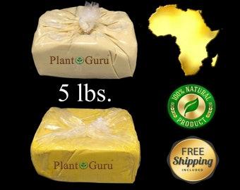 5 lbs. African Shea Butter Unrefined Raw Organic From Ghana 100% Pure Virgin Skin, Body, Hair Moisturizer Bulk 5 lb / 5 Pounds