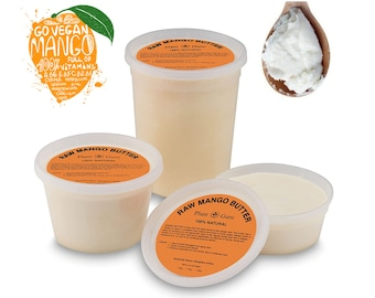 Mango Butter 100% Pure Organic Raw Unrefined Great For Skin, Body, Face, Hair Available in 8 oz, 16 oz and 32 oz.