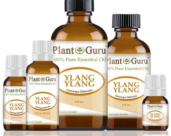 Ylang Ylang Essential Oil  100% Pure, Undiluted, Therapeutic Grade. Best Aromatherapy Oils