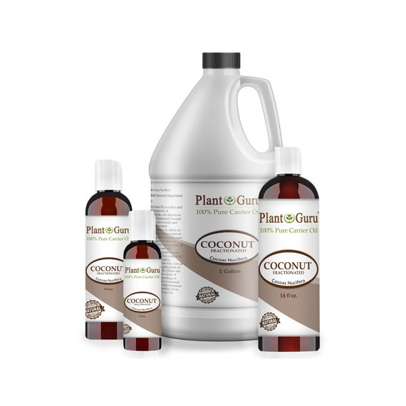 Fractionated Coconut Oil 100% Pure Natural MCT Carrier Skin, Body And Hair  Moisturizer, Massage, Aromatherapy & More!