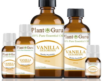 Vanilla Essential Oil 10 Fold Oleoresin 100% Pure, Undiluted, Therapeutic Grade. Best Aromatherapy Oils