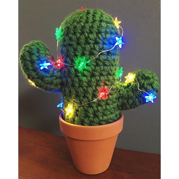 Häkeln Sie Kaktus Weihnachten Kaktus Häkeln Pflanze Etsy