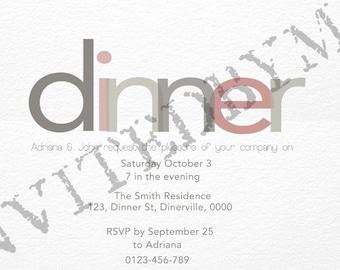 Dinner Party or Rehearsal Dinner Invitation
