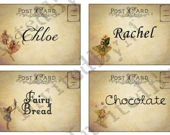 Fairy Party Labels/Place Cards