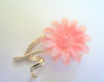 Pink flower pin etsy pink flower pin mightylinksfo