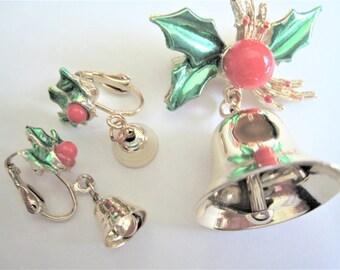 Christmas Bell & Clip Earrings