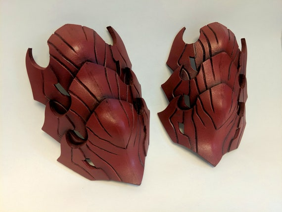 Monster Hunter World Odogaron Bicep Armor And Neck Strap Etsy