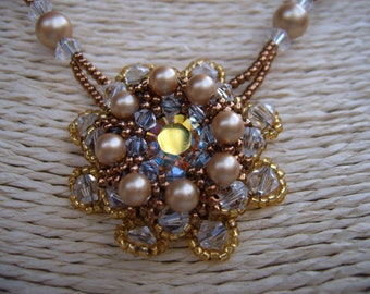 High end jewelry, victorian necklace, heirloom necklace, bead art, jewelry bead, bead embroidery necklace, jewelry seed beads,