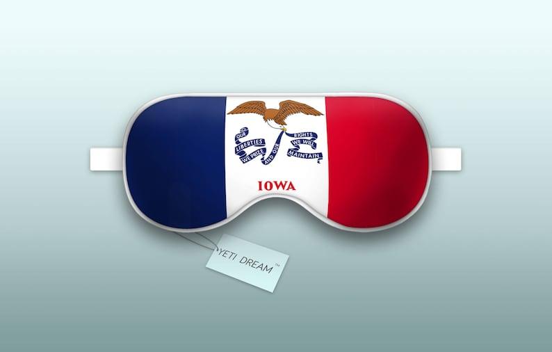 Hawkeye State Proud to be an American! Sleeping Mask light-blocking mask Comfortable Eye mask Sleep Mask Iowa Flag