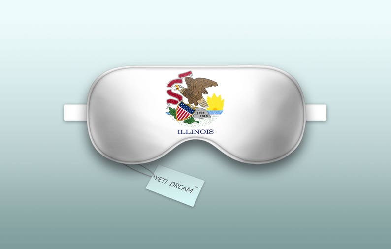 light-blocking mask Sleeping Mask Sleep Mask Illinois Flag Comfortable Eye mask Proud to be an American! Garden of the West