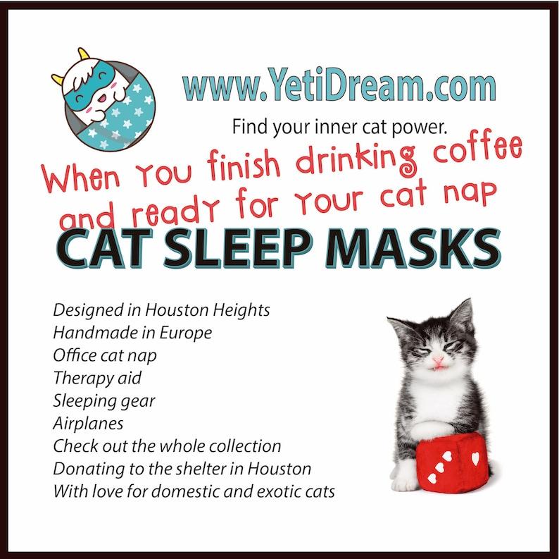Siamese cat Sleep Mask, Cat mask, Kitty mask, Animal mask, Eye mask,  Sleeping mask, Gift for her, Silk sleep mask, Sleepwear, Travel gift